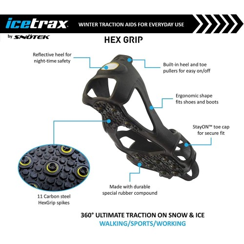 CRAMPONS À GLACE & NEIGE SNOW GRIP  SEMELLE TRACTION ANTIDÉRAPANTE